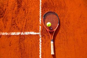 raquette tennis balle terre battue